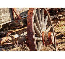 rusty rim Photographic Print