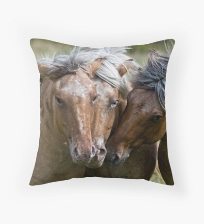 Horse Lords Throw Pillow