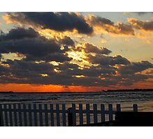 Sunset in Westbrook, CT Photographic Print