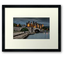 Conwy Castle by Lamplight Framed Print