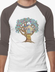 Live Simply, Love Trees Men's Baseball ¾ T-Shirt