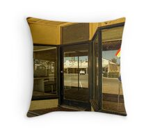 Rainbow shop front and reflections Throw Pillow