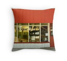 Rainbow shop front Throw Pillow
