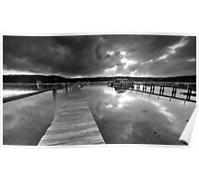 Gosford Stormy Sunset Poster