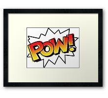 POW! Onomatopoeia Framed Print