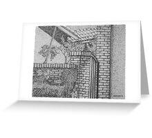 Villa Gate Greeting Card