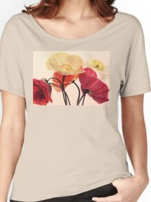 Posing Poppies Women's Relaxed Fit T-Shirt