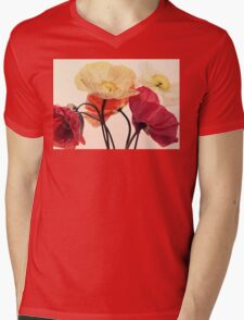 Posing Poppies Mens V-Neck T-Shirt