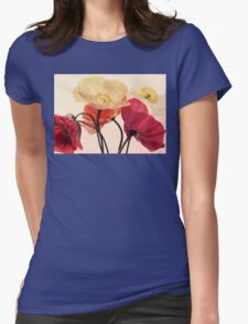 Posing Poppies Womens Fitted T-Shirt