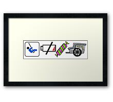 Swing Low Sweet Chariot! Framed Print