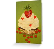 A CUPCAKE BAKED WITH LOVE Greeting Card