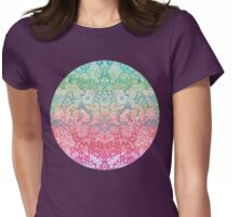 Soft Pastel Rainbow Doodle Womens Fitted T-Shirt