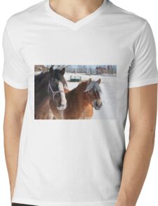 Equine Friends Mens V-Neck T-Shirt