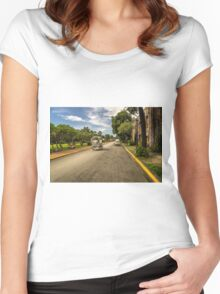 Horse Drawn  Women's Fitted Scoop T-Shirt