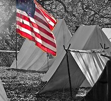 Flying the colors over Camp by Tim Denny