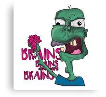 Brains! - Zombie Design - Brains, Brains and more Brains! Canvas Print