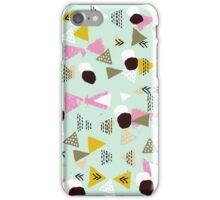 Ralea - abstract design triangle geometric circle print texture dots mid century modern  iPhone Case/Skin