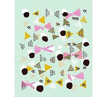 Ralea - abstract design triangle geometric circle print texture dots mid century modern  Photographic Print