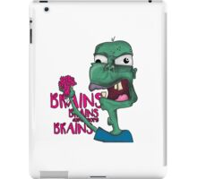 Brains! - Zombie Design - Brains, Brains and more Brains! iPad Case/Skin