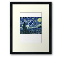 Doctor Who - Starry night Framed Print