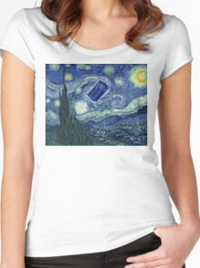 Doctor Who - Starry night Women's Fitted Scoop T-Shirt