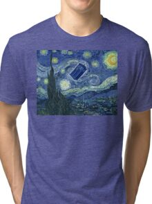 Doctor Who - Starry night Tri-blend T-Shirt