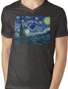 Doctor Who - Starry night Mens V-Neck T-Shirt