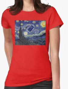 Doctor Who - Starry night Womens Fitted T-Shirt