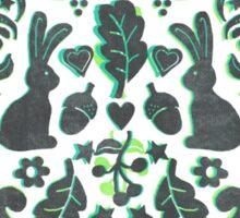 Two Rabbits Sticker