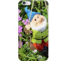 Smiler Gnome on a Swing iPhone Case/Skin