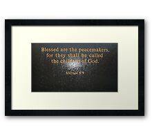Blessed Be... Framed Print