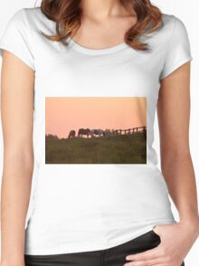 Equine Sunrise Women's Fitted Scoop T-Shirt