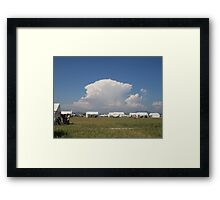 Anime Clouds Framed Print
