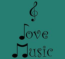 I Love Music - Tribal Teal by moonshinepdise