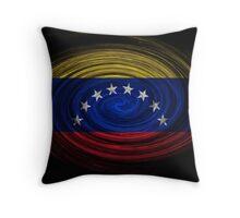 Venezuela Twirl Throw Pillow