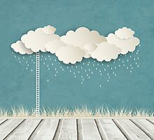 Vintage Background With Clouds by Olga Altunina