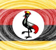 Uganda Twirl Sticker