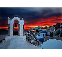 Oia sunset Photographic Print
