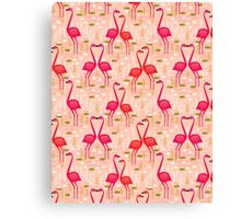 Flamingos by Andrea Lauren Canvas Print