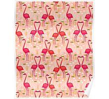 Flamingos by Andrea Lauren Poster