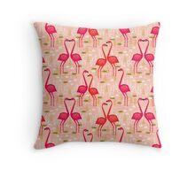 Flamingos by Andrea Lauren Throw Pillow