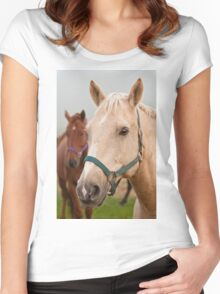 Horses Women's Fitted Scoop T-Shirt
