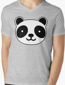 Cute Panda Mens V-Neck T-Shirt