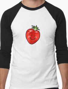 Red strawberry fruit Men's Baseball ¾ T-Shirt