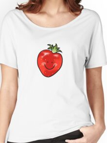 Red strawberry fruit Women's Relaxed Fit T-Shirt