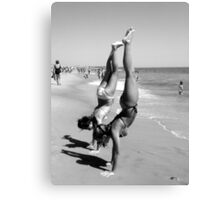 hand stand Canvas Print