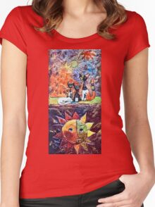 Exclusive: My Creations Artistic Sculpture Relief fact Main 9  PAINT (Painting & Mixed Media) (c)(h) by Olao-Olavia / Okaio Créations Women's Fitted Scoop T-Shirt