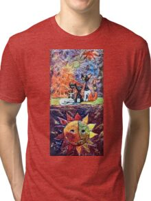 Exclusive: My Creations Artistic Sculpture Relief fact Main 9  PAINT (Painting & Mixed Media) (c)(h) by Olao-Olavia / Okaio Créations Tri-blend T-Shirt