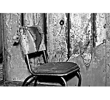 I Sit and Wait Alone Photographic Print