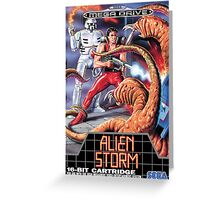 Alien Storm Mega Drive Cover Greeting Card
